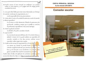Calaméo - Boletín informativo comedor escolar El Peñascal 2012/2013
