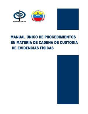 Calaméo - Manual Único de Procedimientos. Cadena de Custodia ee6f551fe7e