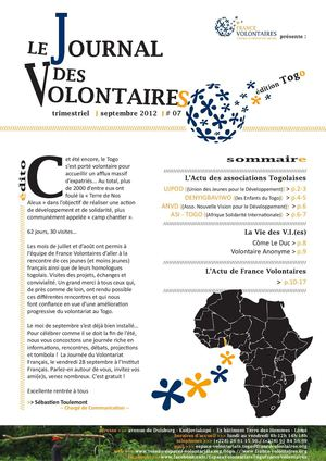 JOURNAL DES VOLONTAIRES N°7