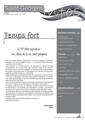 Saint-Georges Infos - septembre 2012