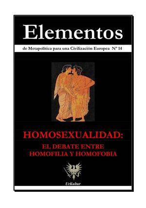 Calamo Elementos 14 Homosexualidad El Debate Entre Homofilia