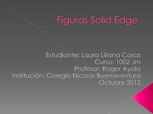 Figuras Solid Edge