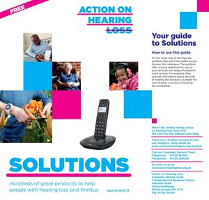 Solutions Catalogue 2012 to 2013