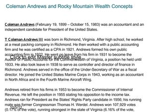 http://www.slideshare.net/rockymountain01/coleman-andrews-and-rocky-mountain-wealth-concepts