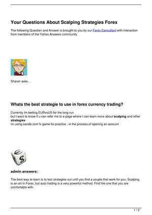 Your Questions About Scalping Strategies Forex