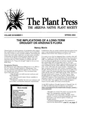 Spring 2004 The Plant Press ~ Arizona Natiave Plant Soceity