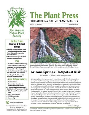 Winter 2010 - 2011 The Plant Press ~ Arizona Natiave Plant Soceity