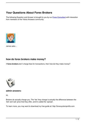 Your Questions About Forex Brokers