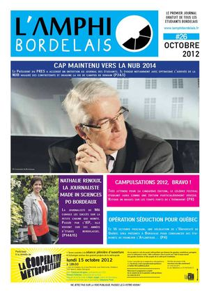 Journal l'Amphi Bordelais N°26 - Mardi 09 Octobre 2012