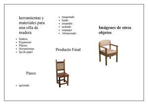 Calam o herramientas y materiales para una silla de madera for Caracteristicas del mobiliario