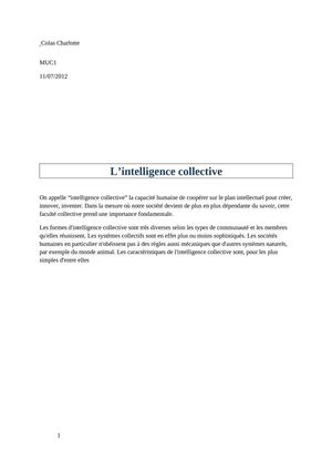 Intelligence collective...