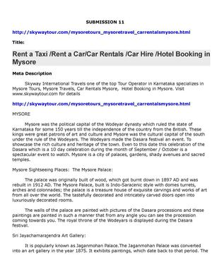 Rent a Taxi Rent a CarCar Rentals Car Hire Hotel Booking in Mysore