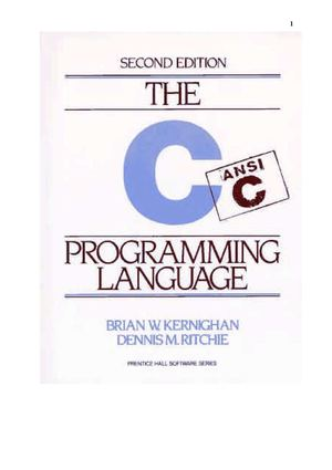 C.Prentice Hall.eng.The ANSI C Programming Language Ritchie   K