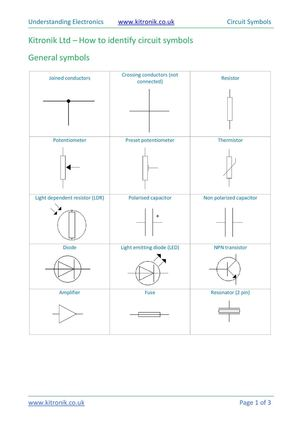 How to identify electronic circuit symbols