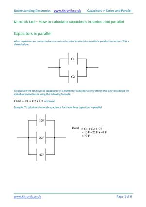 How to calculate capacitors in series and parallel