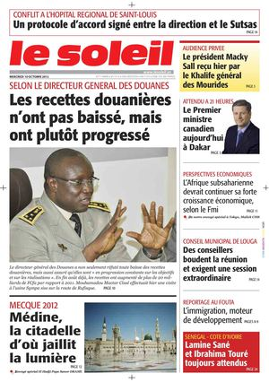 Edition du 10 octobre 2012