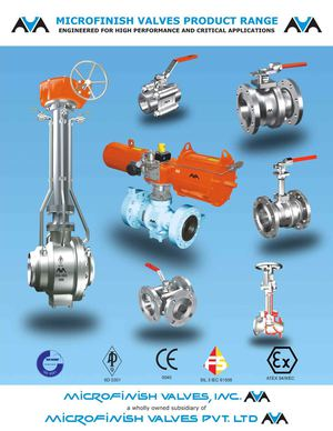 Microfinish Valves Product Range