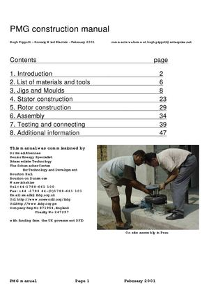 (ebook) - Free energy - Permanent Magnet Generator Construction Manual
