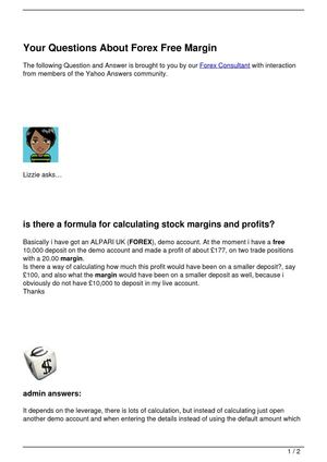 Your Questions About Forex Free Margin