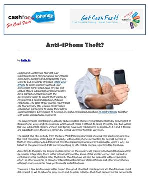 Anti-iPhone Theft?