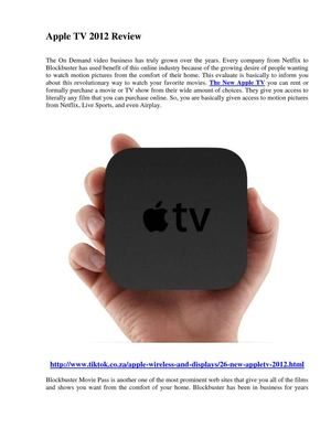 Apple TV 2012 Review