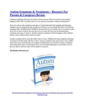 autism symptoms and early signs