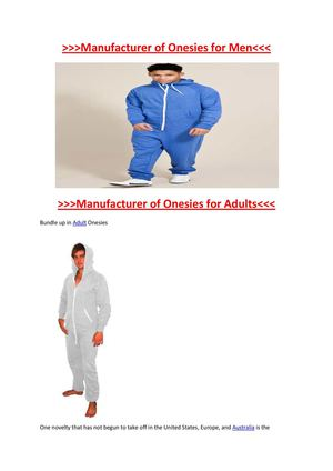 Adults Onesies for All Ages and on High Quality