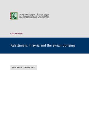 Palestinians in Syria and the Syrian Uprising