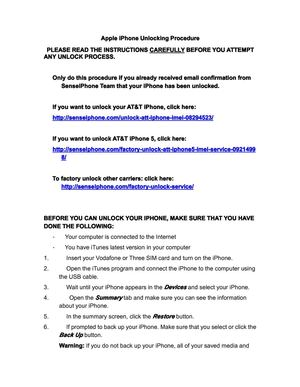 Factory Unlock iPhone Guide
