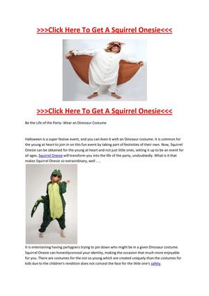 Selling Different Kinds of Squirrel Onesie in Australia
