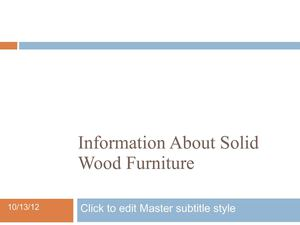 Information About Solid Wood Furniture