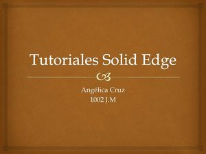 Tutoriales Solid Edge