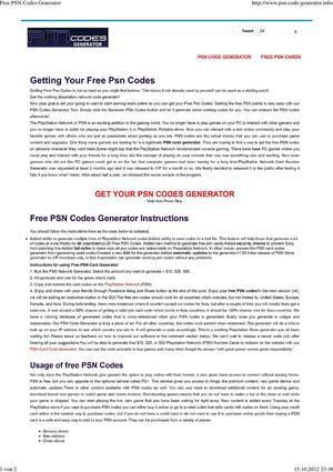 Calaméo - Free PSN Codes Generator