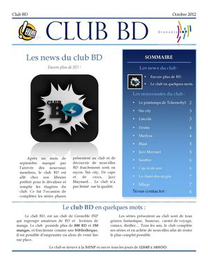 Journal du club BD