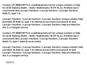 Calaméo - IB Math SL Portfolio Lacsap's fractions IB Math SL