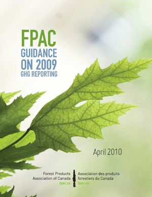 FPAC Guidance on 2009 GHG Reporting (English)