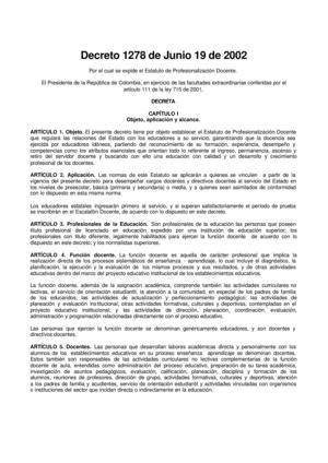 Calaméo - Decreto 1278. Docentes Colombia