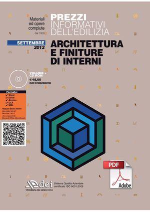 Calam o prezzario architettura e finiture di interni 2012 for Architettura d interni on line