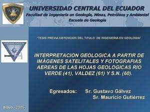 Calaméo - Presentación de la Tesis Mapa Geológico de Esmeraldas ...