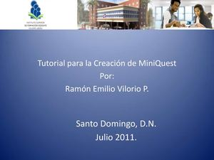 Tutorial para Elaborar MiniQuest