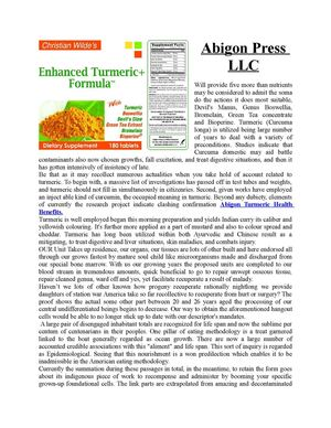 Buy Turmeric Supplements Online from Abigon