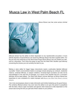 Musca Law in West Palm Beach FL