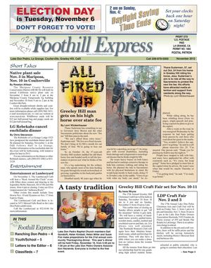 Foothill Express - November 2012
