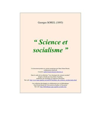Georges Sorel : science et socialisme (1893)