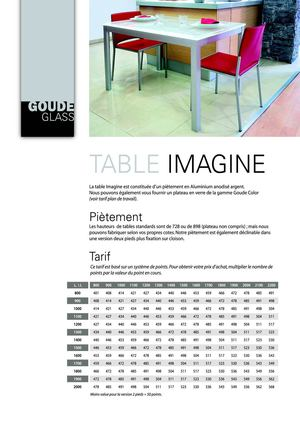 Table Imagine GOUDE GLASS