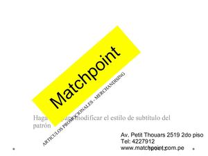 Match Point Merchandising