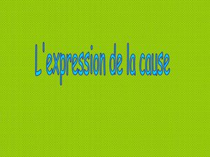 PPT.Expression de la cause