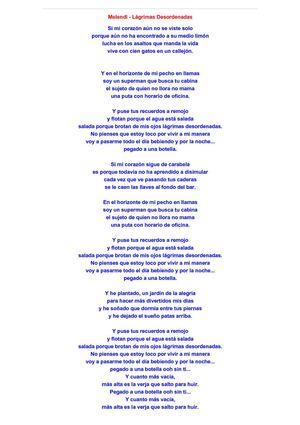 Calaméo - Melendi. Lágrimas Desordenadas (Letra)