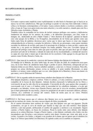 Calameo Resumen Capitulos Prescriptivo De El Quijote