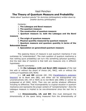 Vasil Penchev. The Theory of Quantum Measure and Probability